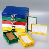 Slide Storage Boxes 25-Place Cork