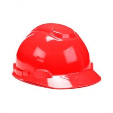 3M™ Hard Hat, Red 4-Point Pinlock Suspension H-705P