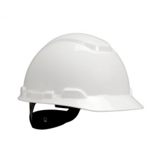 3M™ Hard Hat with Uvicator H-701R-UV, White, 4-Point Ratchet Suspension