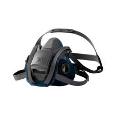 3M™ Rugged Comfort Quick Latch Half Facepiece Reusable Respirator 6501QL/49488, Small