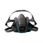 3M™ Rugged Comfort Quick Latch Half Facepiece Reusable Respirator 6502QL/49490, Medium